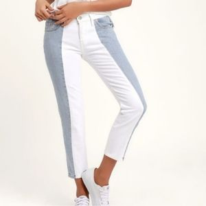 Nwt Levis 501 High Rise Taper Skinny Crop Jeans 30